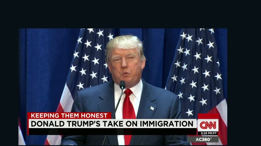 President Elect Donald Trump Speaking on Immigration