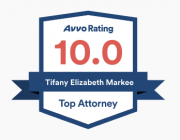 A top attorney badge from Avvo.
